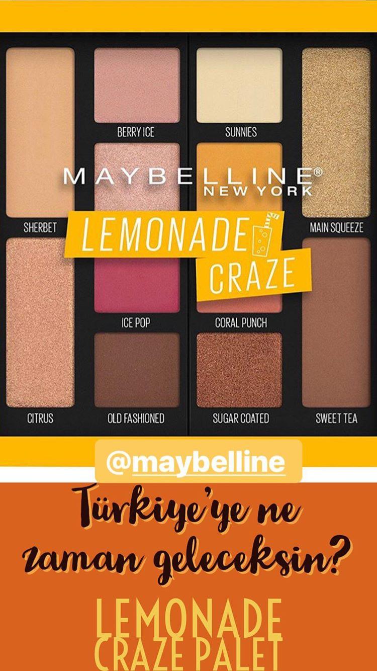 Maybelline New York Lemonade Craze Far Paleti incelemesi